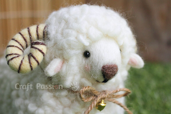 needle felt rem sheep