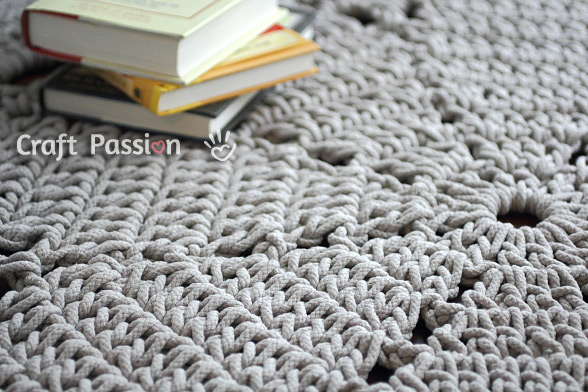 Giant Doily Rug Free Crochet Pattern Craft Passion