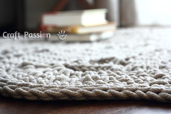 crochet doily floor rug