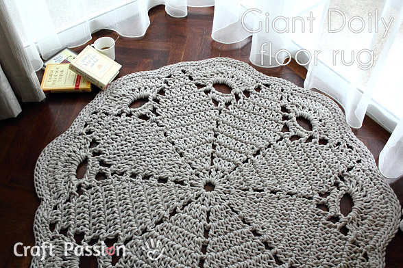 Giant Doily Rug Free Crochet Pattern Craft Passion Page 2 Of 2