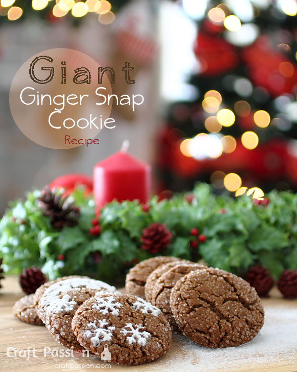 giant ginger snap cookies