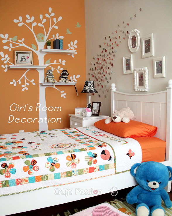 Girl's Bedroom Decoration Ideas - Home Decor | Craft Passion on Decoration Room For Girl  id=21712