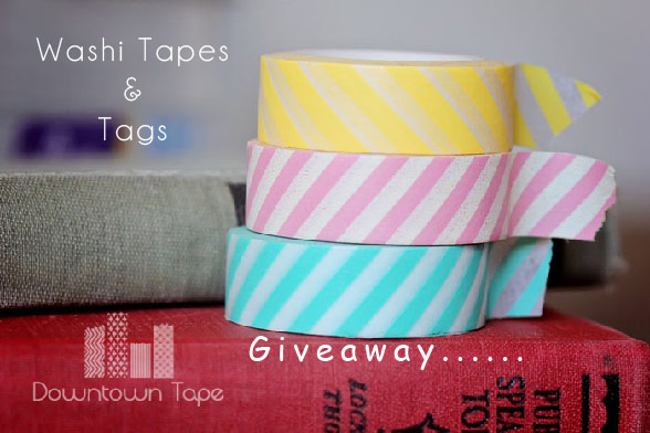 Giveaway: Washi Tapes & Tags {Closed}