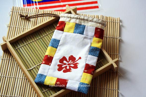 Patriotic Theme drawstring bag pattern