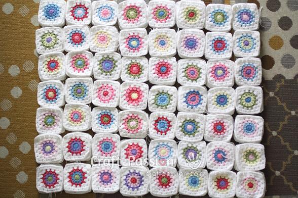 sunburst granny squares
