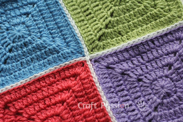 12 Ways To Join Granny Squares - How To | Craft Passion