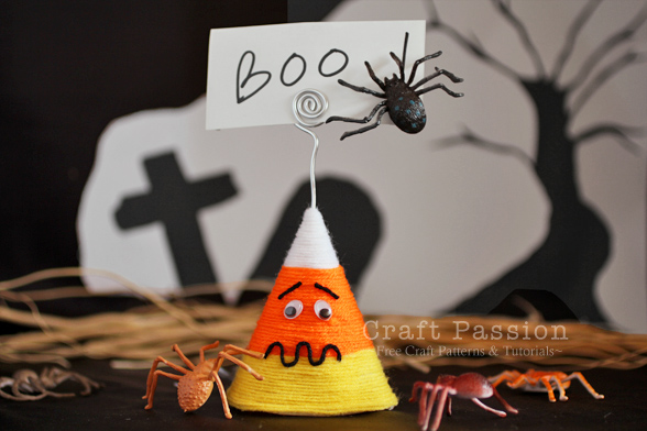 Halloween Candy Corn Memo Holder