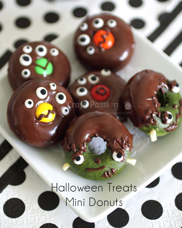 Frankenstein monster Halloween Donut Treats