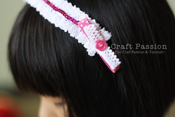 make easy lace headband