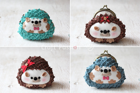 Hedgehog Coin Purse Free Sewing Pattern Craft Passion