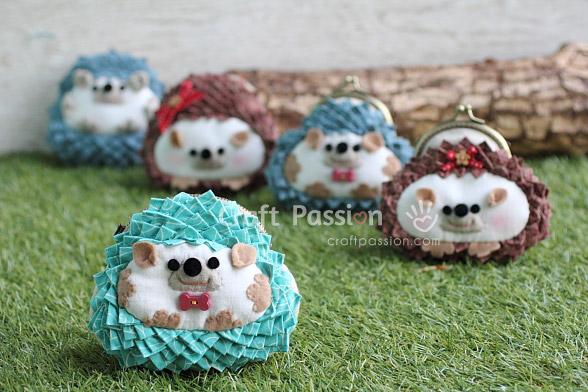 coin purse hedgehog