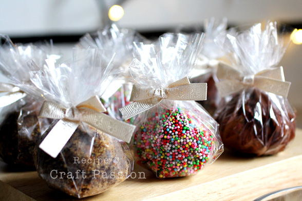 Wrap hot mocha truffles