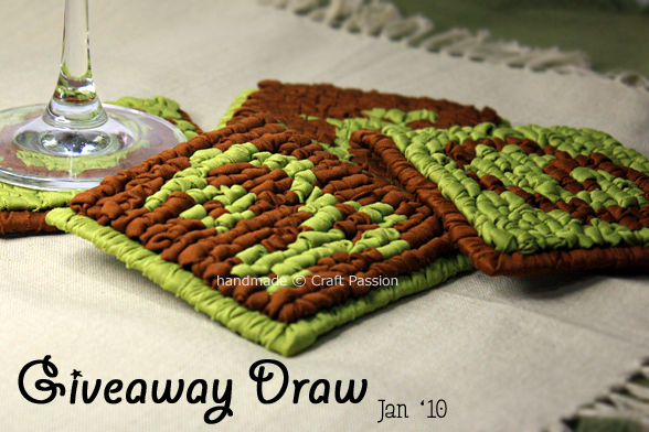 Giveaway (Jan): Set-of-4 Coaster {Closed}