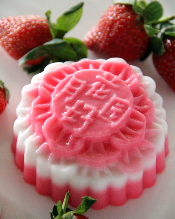 strawberry jelly mooncake