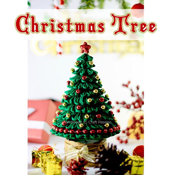 Kanzashi Christmas Tree - Free Sewing Pattern | Craft Passion