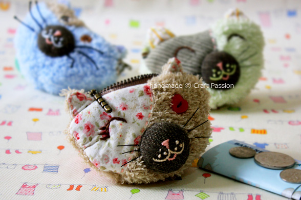 kitty zipper coin purse
