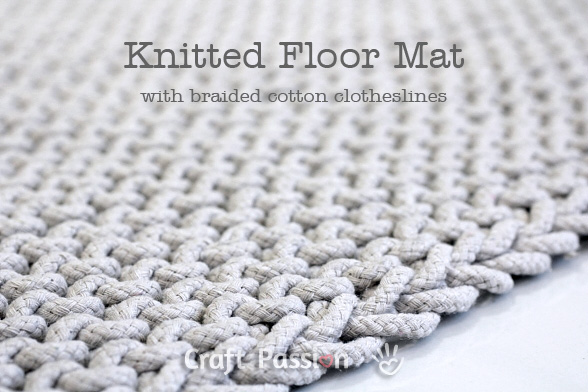 easy knit floor mat