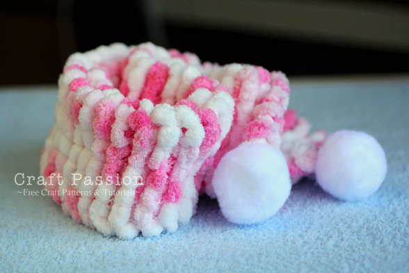 pom-pom scarf knitting pattern