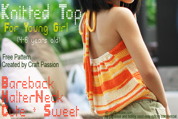 Girl Halter Top Free Knitting Pattern Craft Passion