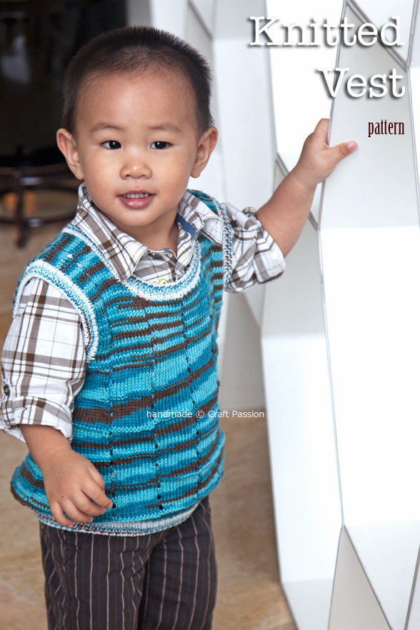 knit toddler vest
