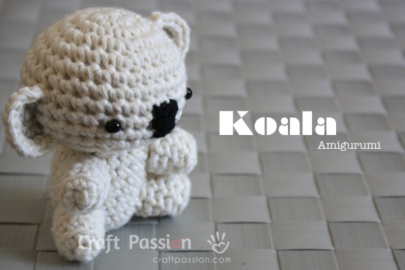 Koala Amigurumi - Free Pattern & Tutorial | Craft Passion