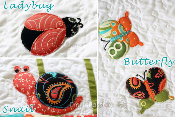 Ladybug Butterfly Snail Applique Patterns