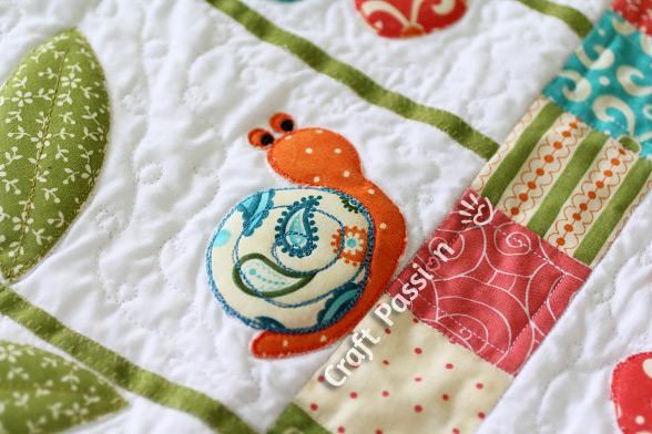 snail bugs applique pattern