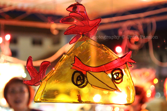 angry bird cellophane lantern