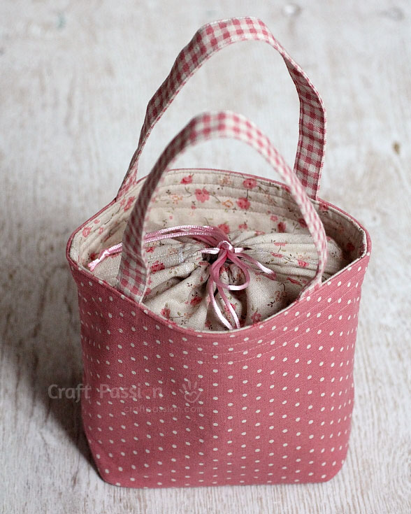 bag with drawstring cover