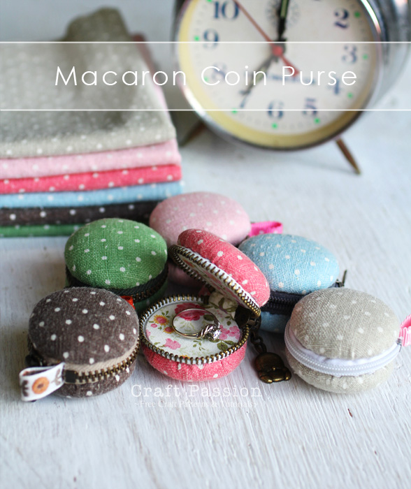 Macaron Coin Purse - Free Sewing Pattern | Craft Passion