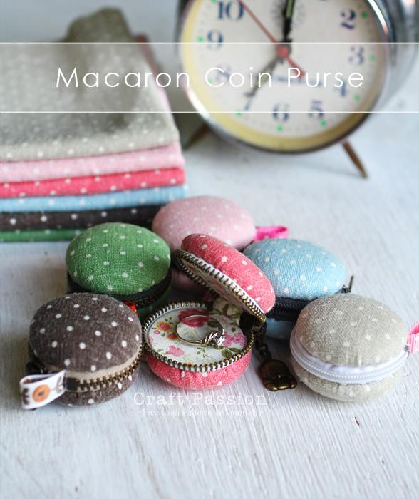 sew cute macaron coin purse