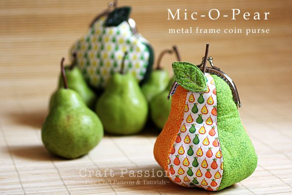 Pear-Shaped Gamaguchi Coin Purse