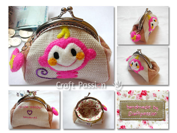 monkey coin purse