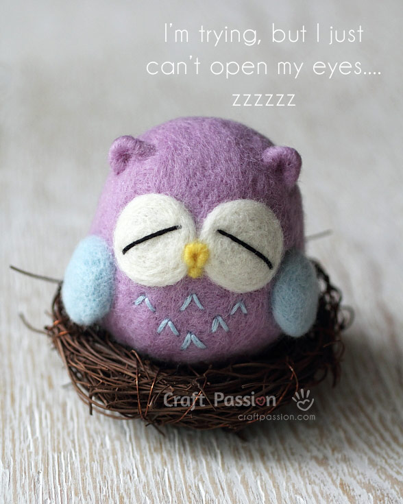 felt sleepy owl