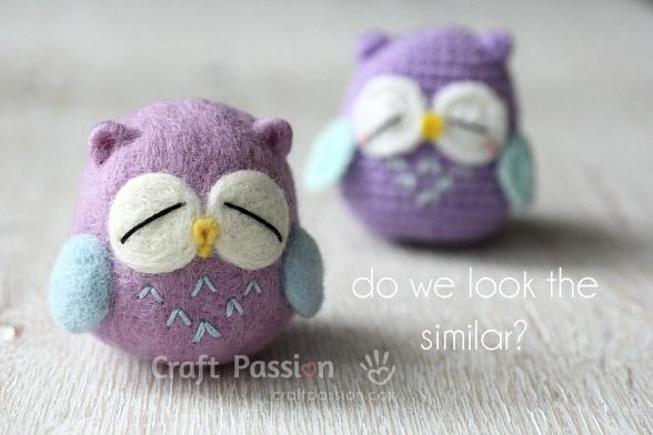 woolly felt mr murasaki owl
