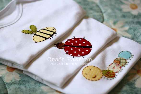 Garden Bugs Appliques - Free Pattern & Tutorial | Craft Passion