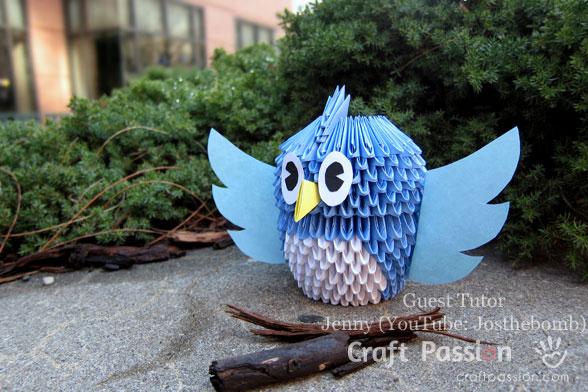 Origami 3D Bird
