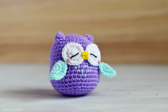 sleepy owl tumbling down