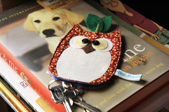owl keychain pouch pattern