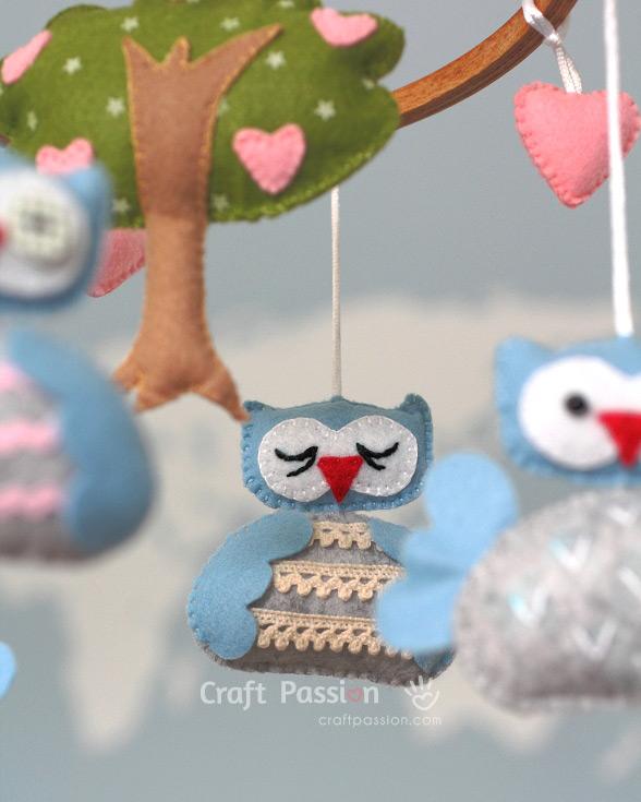 sew felt owl