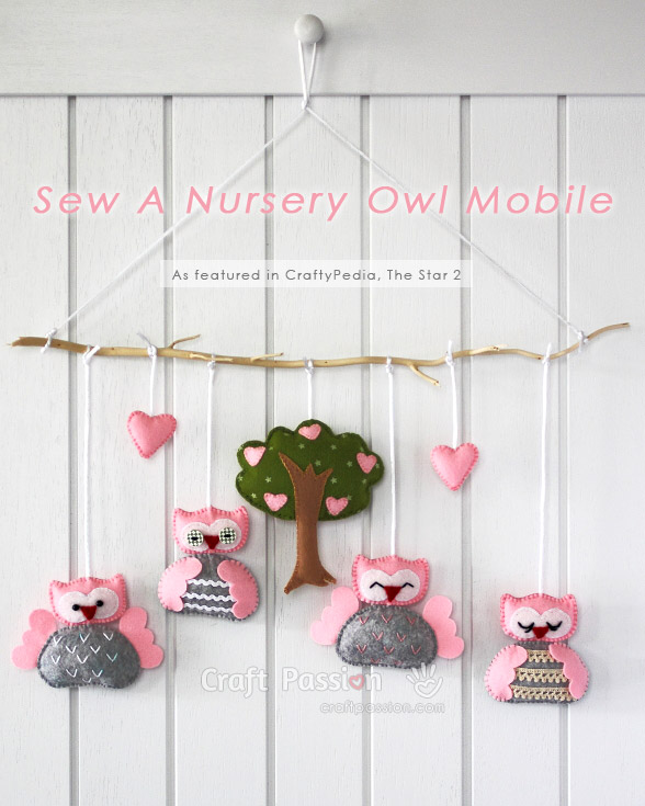 Nursery Owl Mobile Free Sewing Pattern Craft Passion Page 2 Of 2