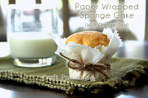 Paper Wrapped Sponge Cake {With Orange Zest}