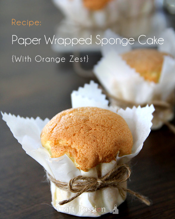 paper wrapped sponge cake