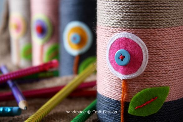 yarn wrap pencil holder