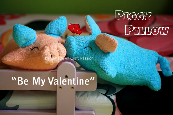 """Be My Valentine"" Piggy Pillows"