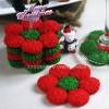 Poinsettia Coasters Crochet Pattern
