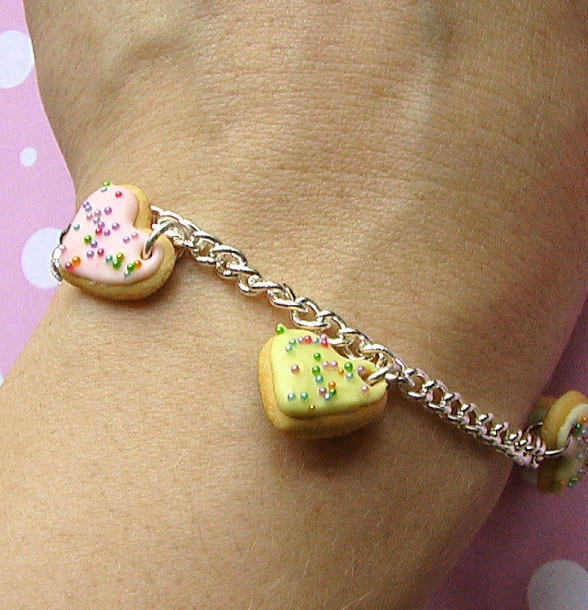 Polymer Clay Cookie Charm Bracelet Tutorial