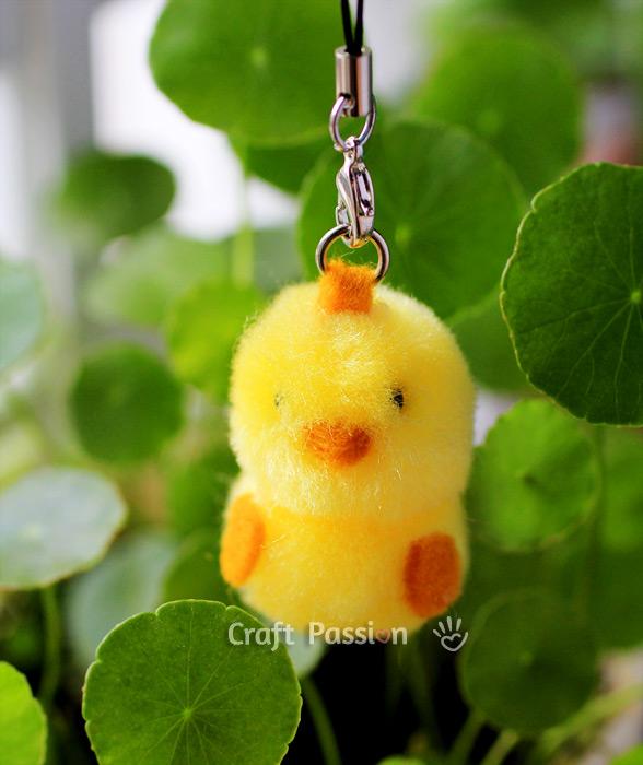 pom pom chick charm