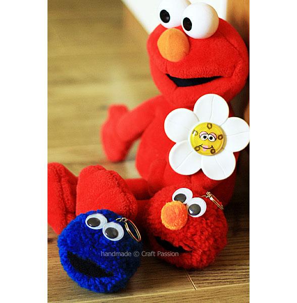 Pom-Pom Elmo cookie monster