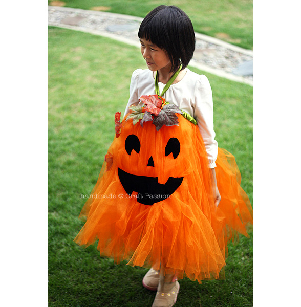 no sew pumpkin tutu  sc 1 st  Craft Passion & No Sew Pumpkin Tutu - DIY Halloween Costume | Craft Passion